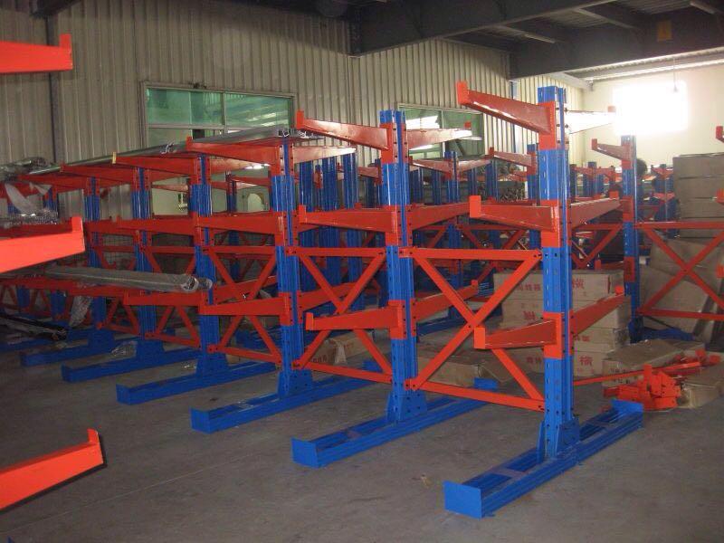 悬臂式重型仓储货架木材五金钢管管材工厂仓库厂房货架定做 单双面承载 解决长物品 摆放 可定做